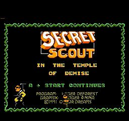 Secret Scout in the Temple of Demise
