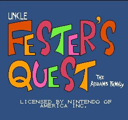 Addams Family, The - Uncle Fester's Quest