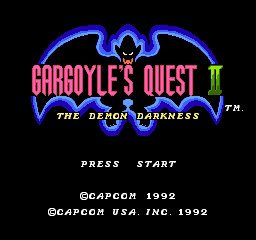 Gargoyle's Quest II - The Demon Darkness