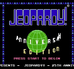 Jeopardy! 25th Silver Anniversary Edition