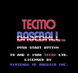 Tecmo Baseball